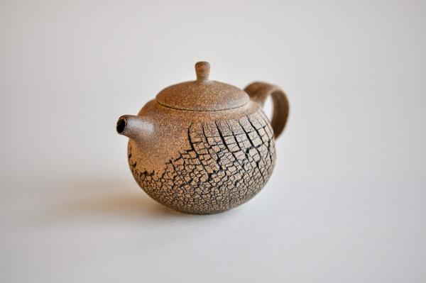 Teekanne 205ml Holzbrand Baumrindenoptik von Jiri Duchek