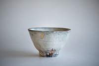 Teeschale Holzbrand creme+grau 330ml von Martin Hanus