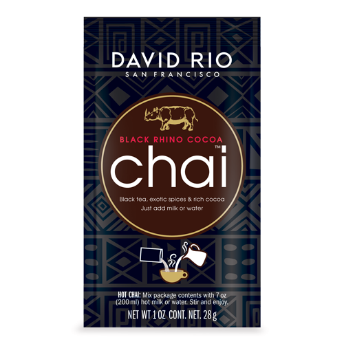 Black Rhino Cocoa Chai, Tassenportion von David Rio