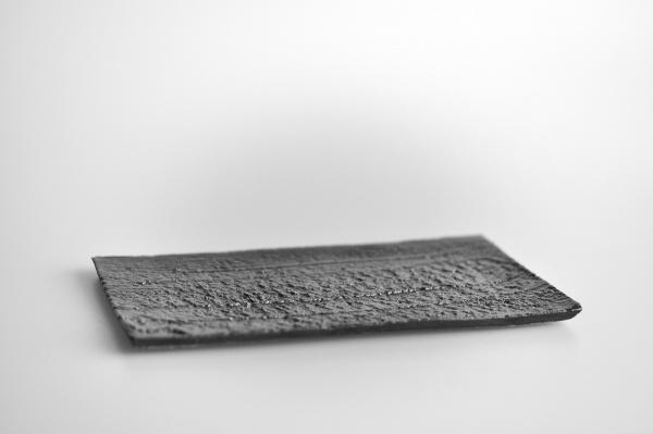 Tablett, Teller schwarz 18x11cm von Andrzej Bero