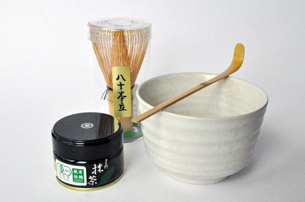 Matcha Komplett-Set White mit Bio Matcha Hoshino