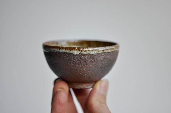 Teeschale 75ml beige glasiert von Martin Koller