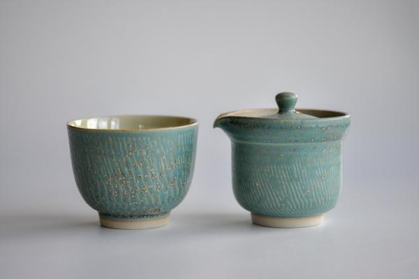 Shiboridashi & Cup SET 130ml gemustert von Ales Dancak