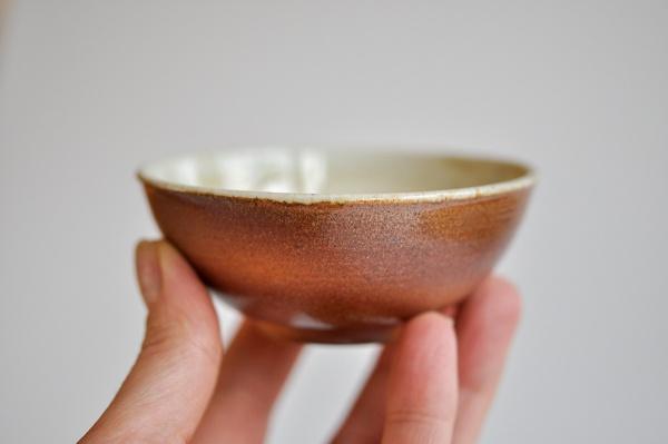 Teeschale Holzbrand rot 125ml von Hanka Vrbicova