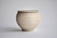 Keramikbehälter 350ml unglasiert von Michiko Shida