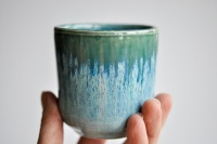 Teebecher 215ml Hasenfellglasur blau