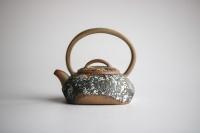 Teekanne steingrau mit Bügel von Li Jiao