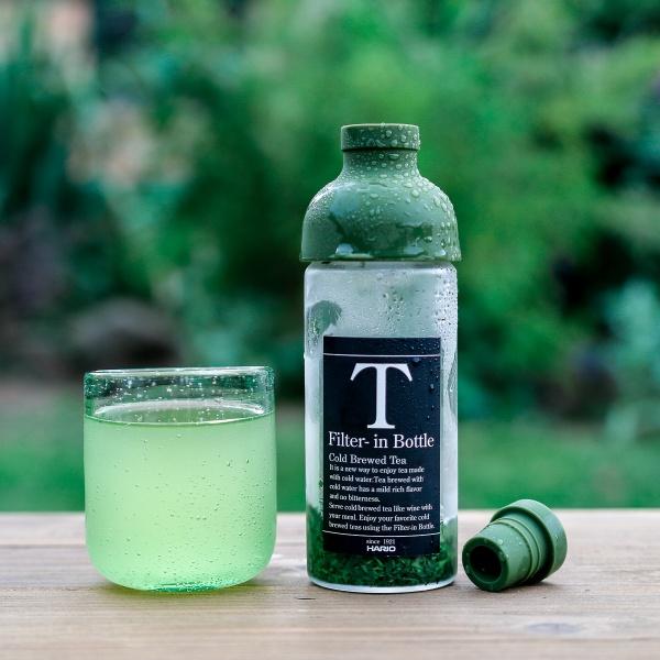 Mini Eisteeflasche für Kaltaufguss HARIO Grün coldbrew