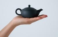 Schwarze Teekanne 125ml aus Tokoname