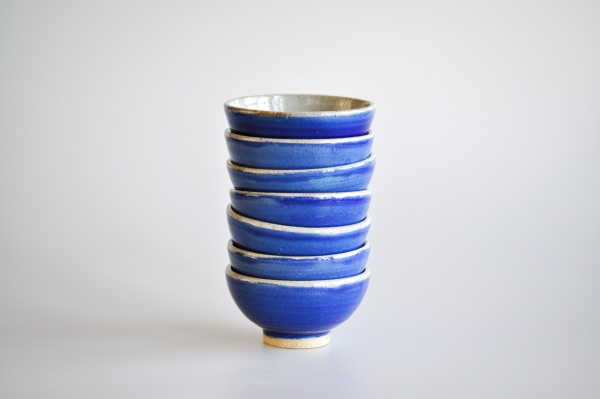 Teeschale 85ml königsblau glasiert von Martin Koller