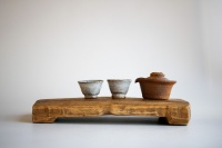 Teebrett 31x15cm - antikes Küchenbrett mit Füßen