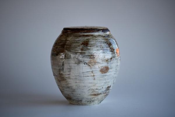 Keramikbehälter 1200ml Holzbrand glasiert von Martin Hanus