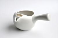 Tokoname Tea Instructor Kyusu, offene Teekanne, Weiß seidenmatt 350ml