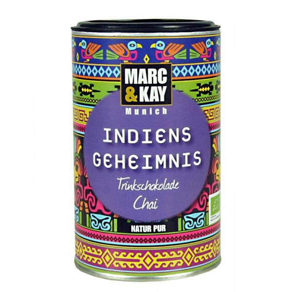 Bio Trinkschokolade Indiens Geheimnis, von Marc & Kay