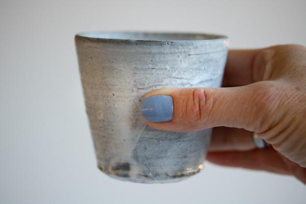 Teebecher Holzbrand grau 225ml von Martin Hanus
