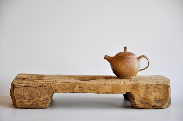Teebrett 40x18cm - antikes Küchenbrett mit Füßen