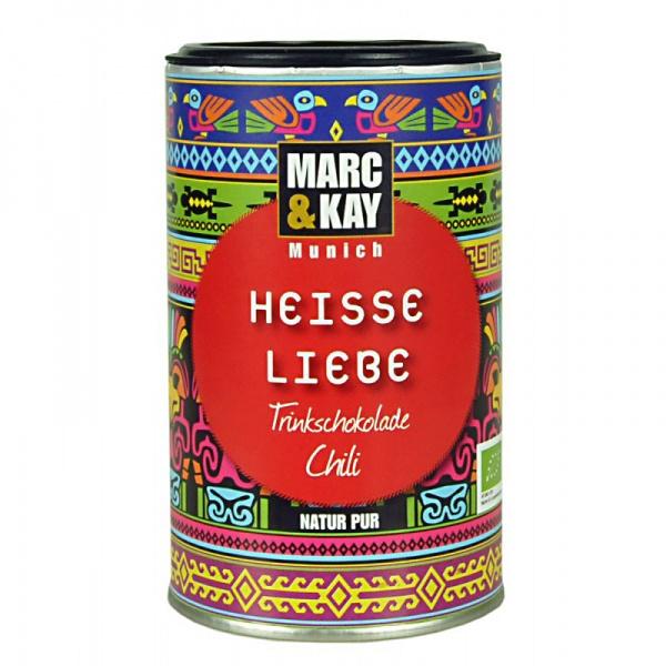 Bio Trinkschokolade Heisse Liebe, von Marc & Kay