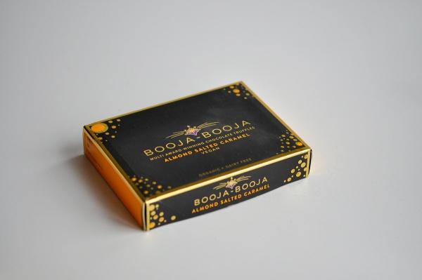 8er Geschenkschachtel Almond Salted Caramel Trüffelpralinen - glutenfrei laktosefrei sojafrei vegan