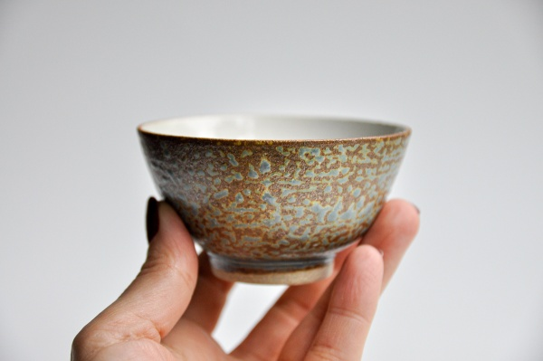 Teeschale 150ml Holzbrand gemustert von Ales Dancak