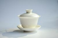Gaiwan 130ml aus weißem Porzellan