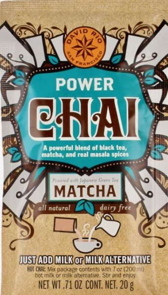 Power Chai mit Matcha, Tassenportion von David Rio