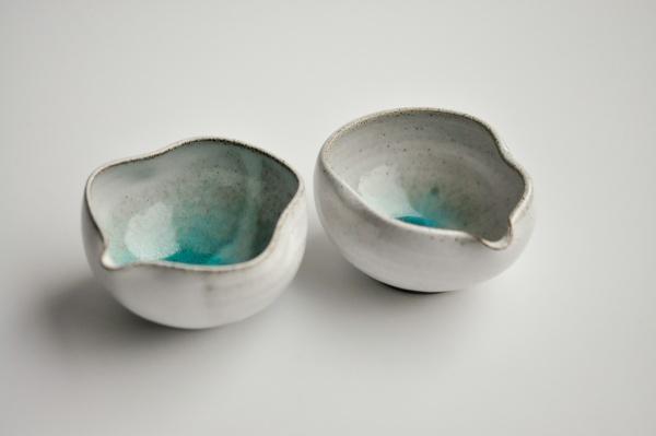 Abkühlschale Yuzamashi grau/türkis 130ml von Michiko Shida