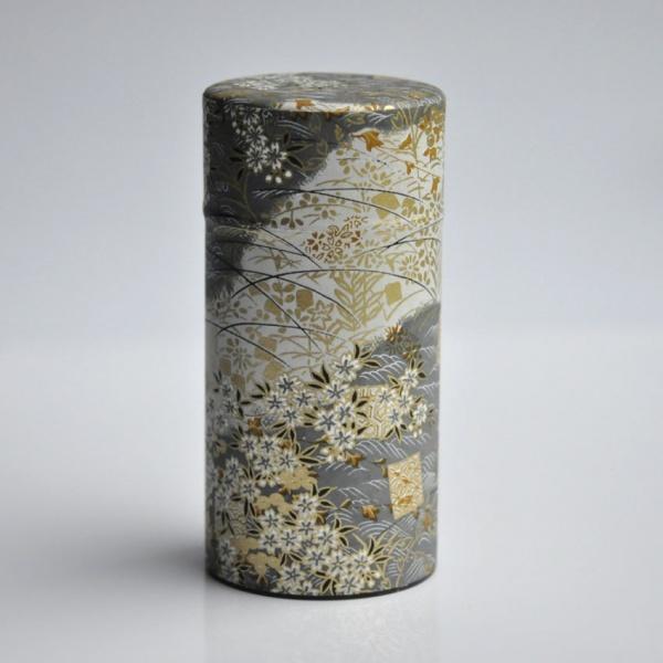 Große Teedose in japanischem Seidenpapier, 200g, gold