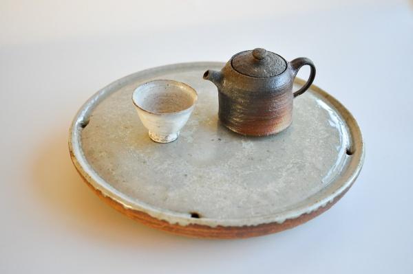 Teetisch/Teeboot 29,5cm Holzbrand von Ales Dancak