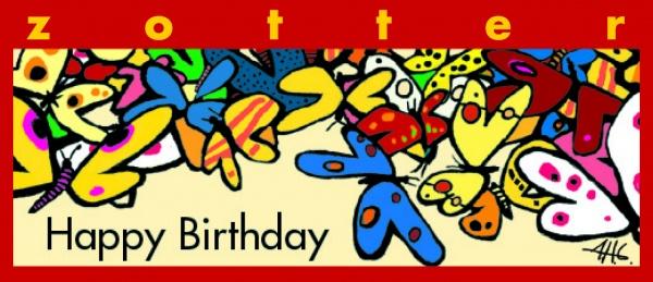 """Zotter """"Happy Birthday"""""""