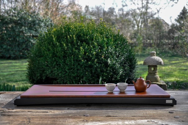 XL Teetisch 80cm / Teeboot / Teebrett aus massivem Holz
