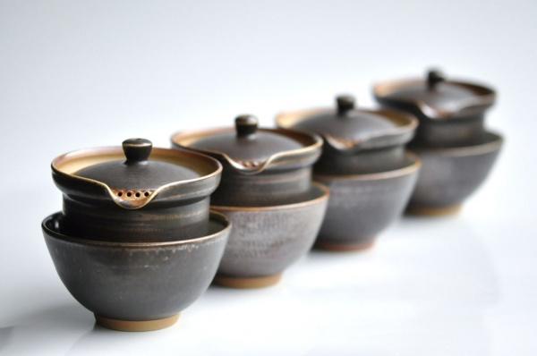 Shiboridashi Set anthrazit-braun 150ml von Ales Dancak Nr.AD04