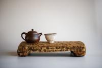 Teebrett 31x16cm - antikes Küchenbrett mit Füßen