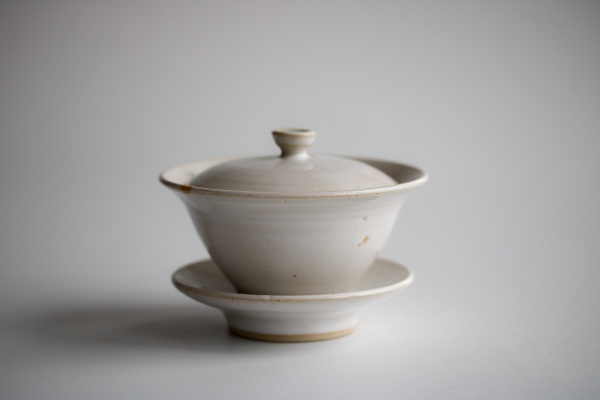 Gaiwan 110ml weiß/türkis von Michiko Shida