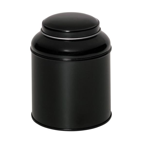 Teedose Schwarz mit Domdeckel 125g