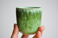 Teebecher 215ml Hasenfellglasur grün