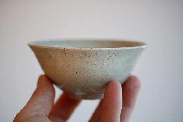Teeschale 140ml sandgrau glasiert von Jiri Duchek