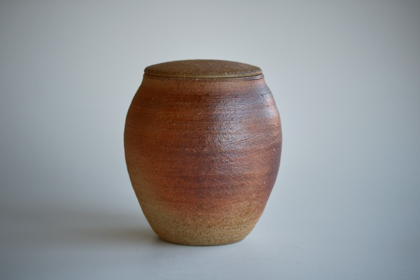 Keramikbehälter 820ml Holzbrand rot von Martin Hanus