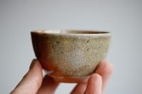 Teeschale Holzbrand creme/rostrot 125ml von Hanka Vrbicova