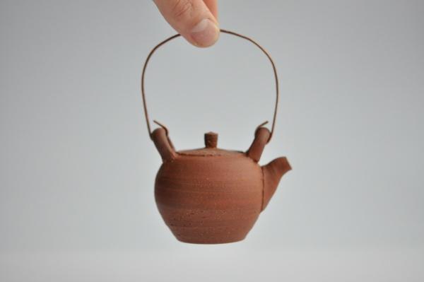 Teekanne mit Kupferbügel (110ml) von Andrzej Bero