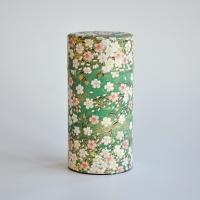 Große Teedose in japanischem Seidenpapier, 200g, grün