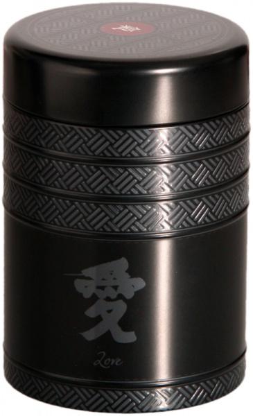 Schwarze Teedose Kyoto