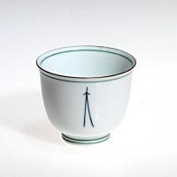 Tea Cup (140ml) Weiß-Grün