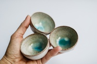 Cup 55ml grau/türkis von Michiko Shida