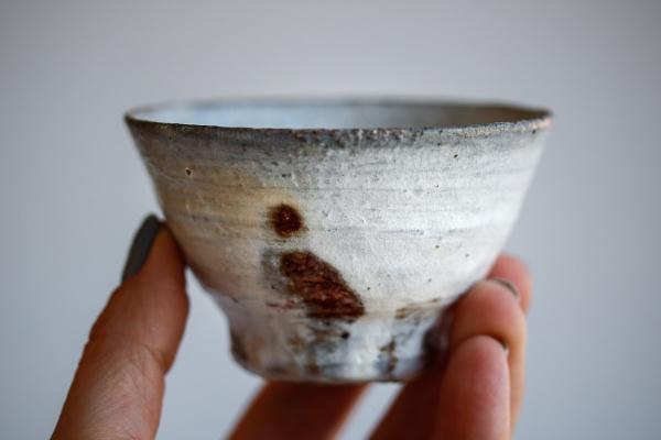 Teeschale Holzbrand creme 130ml von Martin Hanus