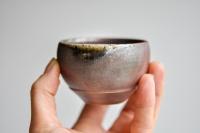 Teeschale 110ml Holzbrand gewölbt von James Xie