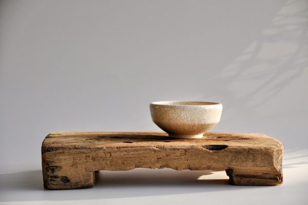 Teebrett 38x23cm - antikes Küchenbrett mit Füßen
