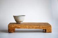 Teebrett 38x19cm - antikes Küchenbrett mit Füßen