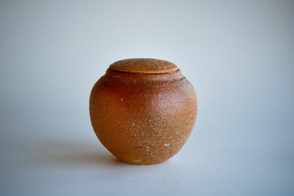 Keramikbehälter 570ml Holzbrand rot von Martin Hanus