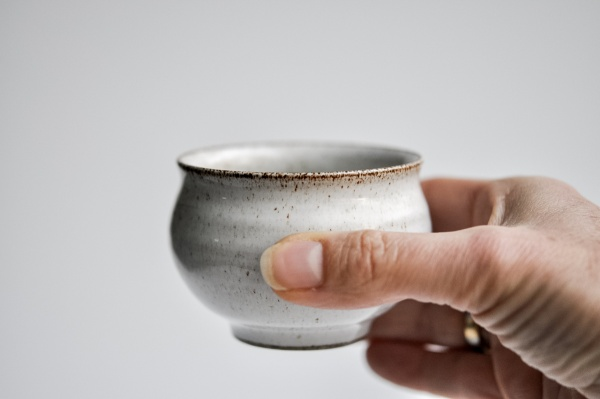 Teeschale 140ml grau/türkis von Michiko Shida