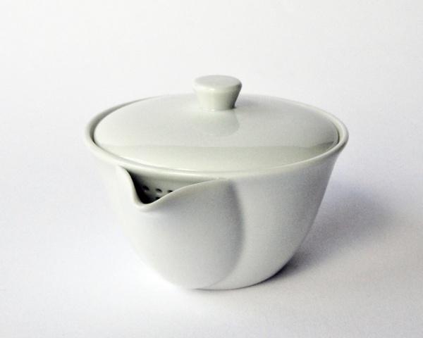 Teekanne Weiß, Houhin ohne Griff 180ml